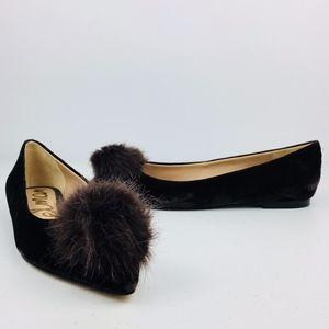 Sam Edelman Raddie Brown Velvet Pointed Toe Flats